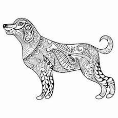 motif de chien vectorielle page de coloriage pour adulte