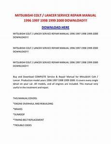 car repair manual download 1998 mitsubishi diamante spare parts catalogs mitsubishi colt lancer service repair manual 1996 1997 1998 1999 2000 download by danawkotnd