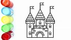 Cara Mewarnai Gambar Istana Megah Untuk Anak Coloring
