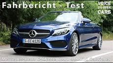 Mercedes C Klasse Cabriolet C400 4matic Fahrbericht