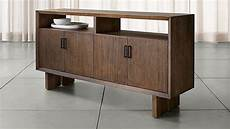monarch shiitake solid walnut large sideboard crate and