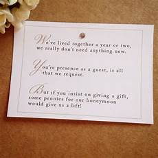 Wedding Wording For Gifts