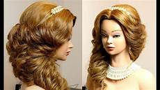 bridal hairstyle for long hair tutorial step by step youtube