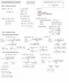 factorising quadratics homework