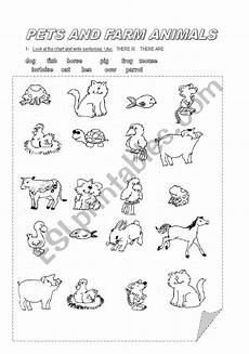 animals like worksheets 13941 pets and farm animals esl worksheet by pfreites