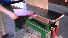 eigenbau abrichte testlauf kraftstrom hobelmaschine