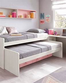 lit chambre chambre ado fille astucieuse avec lit gigogne