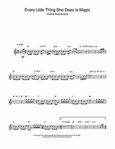 every little thing she does is magic sheet music by the police clarinet 45529