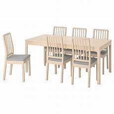 ekedalen ekedalen table and 6 chairs birch ramna