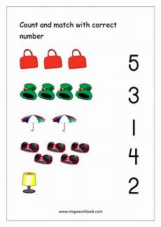 free printable number matching worksheets for kindergarten and preschool count and match 1 10