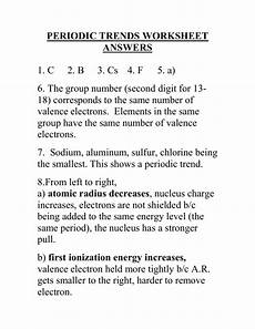 physical science periodic trends worksheet 13200 periodic trends worksheet answers