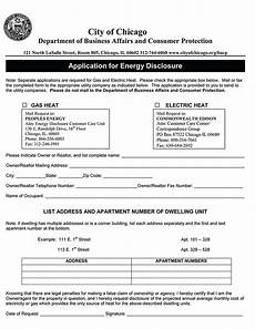 chicago application for energy disclosure ez landlord forms
