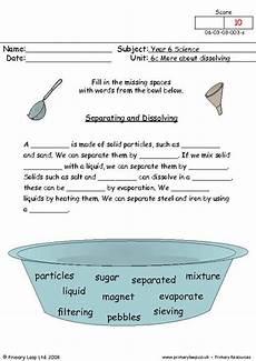 primaryleap co uk separating and dissolving 2 worksheet states of matter worksheet states