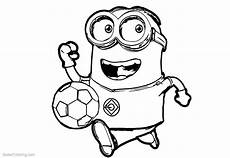 minion coloring pages play football free printable