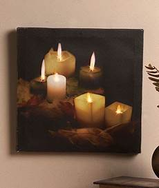 new unique lighted twinkling led lights canvas wall art candlelight ebay