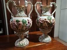 vasi capodimonte antichi capodimonte 2 vasi con manici e figure in rilievo catawiki