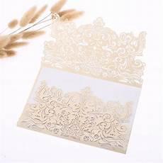 luxury 2 fold vintage cream laser cut lace wedding