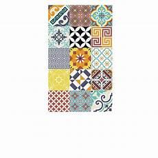 tapis vinyl beija flor tapis vinyle eclectic multicolore 60 x 97 cm beija