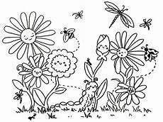 Ausmalbild Schmetterling Wiese Ausmalbilder Blumenwiese Malvorlagentv