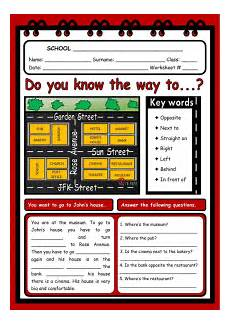 giving directions worksheets 11680 giving directions interactive and downloadable worksheet check your answers or send th