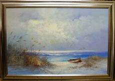 Oils Framed On Canvas Board Painting Sea