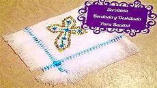 servilletas con punto de de recuerdos de primera comunion como realizar servilletas bordadas y deshiladas bautizo youtube