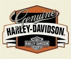 harley davidson genuine h d banner tin metal sign 14 x 17