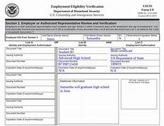 how to fill out the i 9 form in 5 steps exles