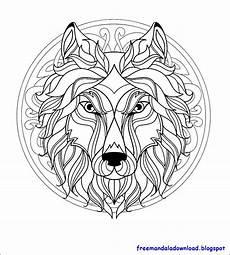 Mandala Malvorlagen Pdf Malvorlagen Wolf Mandala Herunterladen Pdf Herunterladen