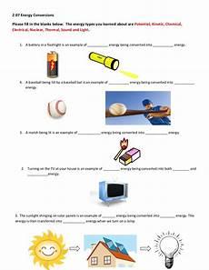 types of energy worksheet 2 07 help worksheet