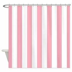 white striped shower curtain pink and white striped shower curtain by mainstreethomewares