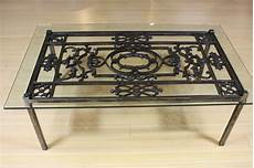wrought iron coffee tables with glass top wrought iron and glass top coffee table at 1stdibs