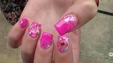 pink gel polish nail design nails at home how to nail