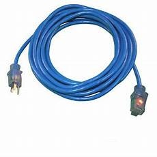 25ft blue heavy duty electric extension power cord 12 cable indoor outdoor ebay