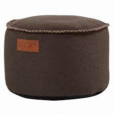 sitzhocker rund sackit sitzhocker rund retroit canvas drum dark brown