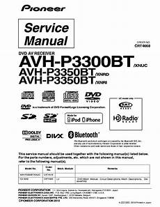 Pioneer Avh P3300bt Avh P3350bt Xnuc Crt4668 Sm Service