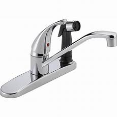 kitchen faucet sprayers peerless single handle standard kitchen faucet with integrated side sprayer in chrome