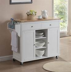 Kitchen Island Cart With Cabinets modern white lacquered kitchen cart center island storage