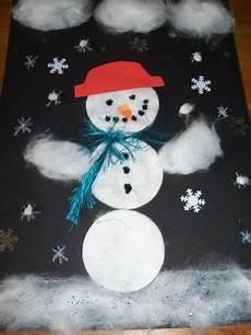 winterbilder zum basteln bastelvorlage schneemann aus watte f 252 r kinder basteln mit