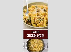 creamy cajun  chicken  pasta  vegetarian chicken_image
