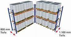 palettenregale fachlast 4 450 kg feldlast 24 5 t