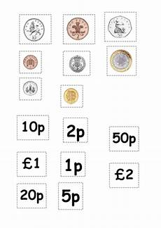 money matching worksheets ks1 2588 coin matching cut and stick activity teaching resources