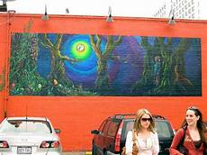 mellow mushroom mural painting by kaley larose