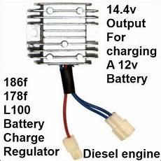 regulateur de charge de batterie battery charge regulator rectifier 12v 186f 178f diesel