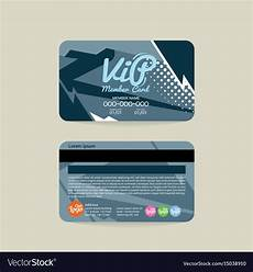 vip name card template front and back vip member card template royalty free vector