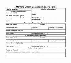 maryland uniform consultation referral form free 11 sle medical consultation forms in pdf ms word