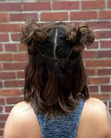 bun type hairstyles pigtail bun inspiration for every hair type