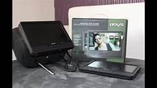 odys tragbarer dvd player mit zus 228 tzlichem bildschirm