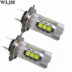 H7 Led Len - wljh 2x h7 led bulb with projector len drl daytime running