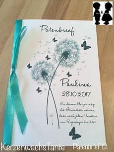 patenbrief der pate geschenk f 252 r paten und